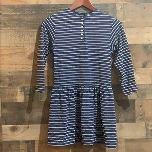 ❤️3/$20 Lands End Blue & White Striped Dress